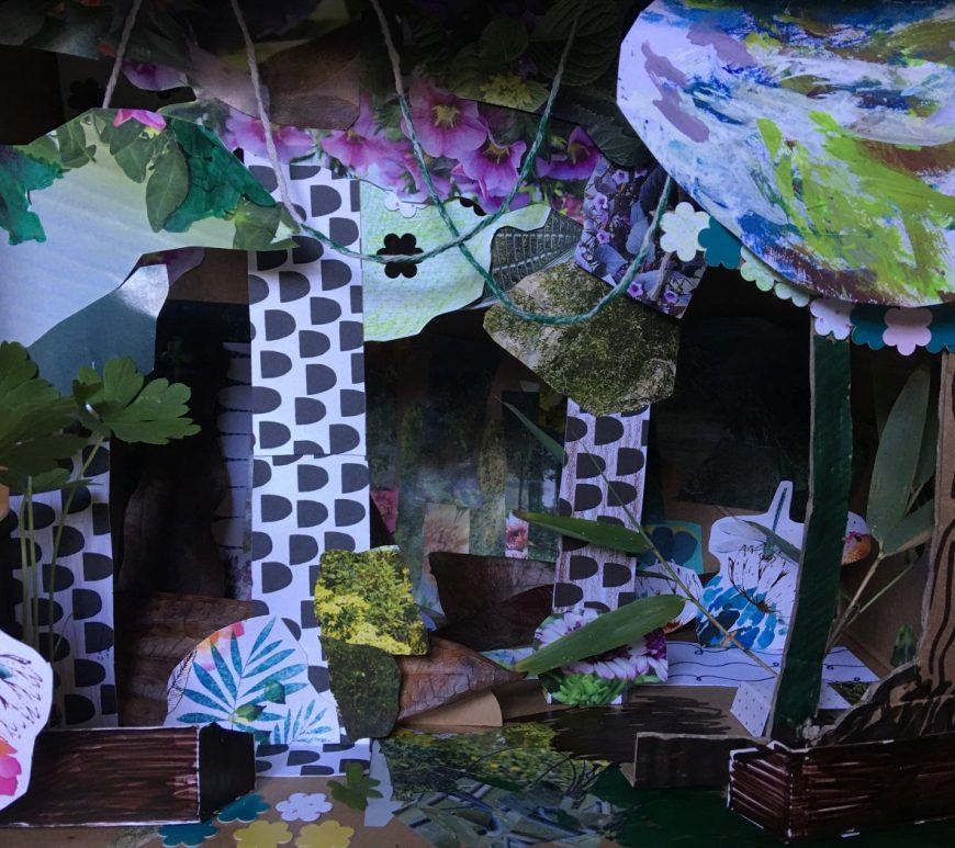 paper craft rainforest