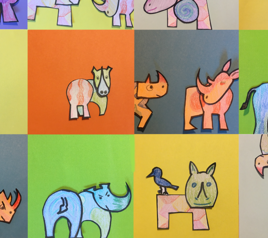 Rhino craft collage