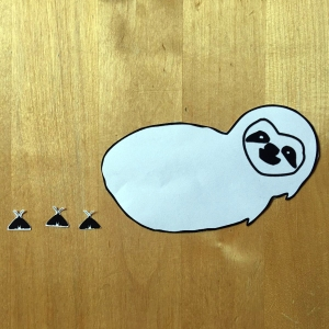 Sloth craft template cut out