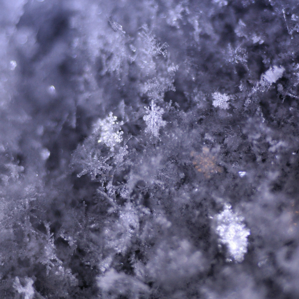 Close up image of snowflakes