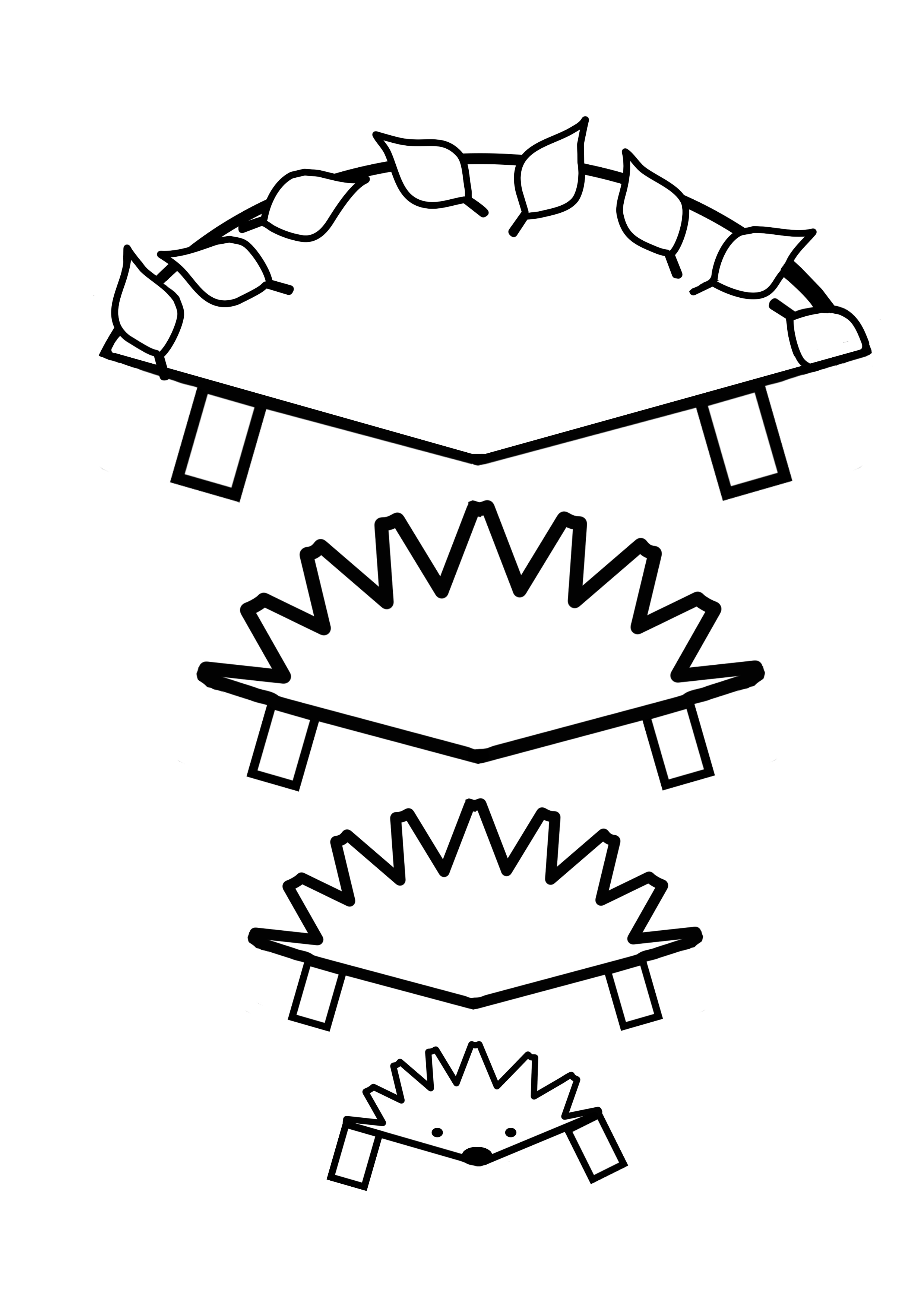 Hedgehog in a Leaf Pile template