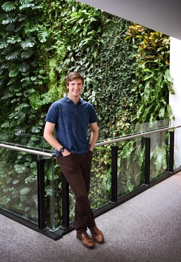 Alec Christie in the David Attenborough Building