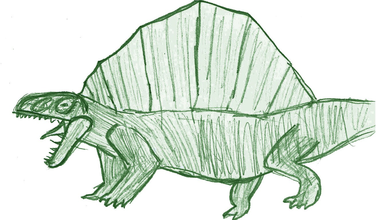 Dimetrodon illustration by Alastair age 7 3/4