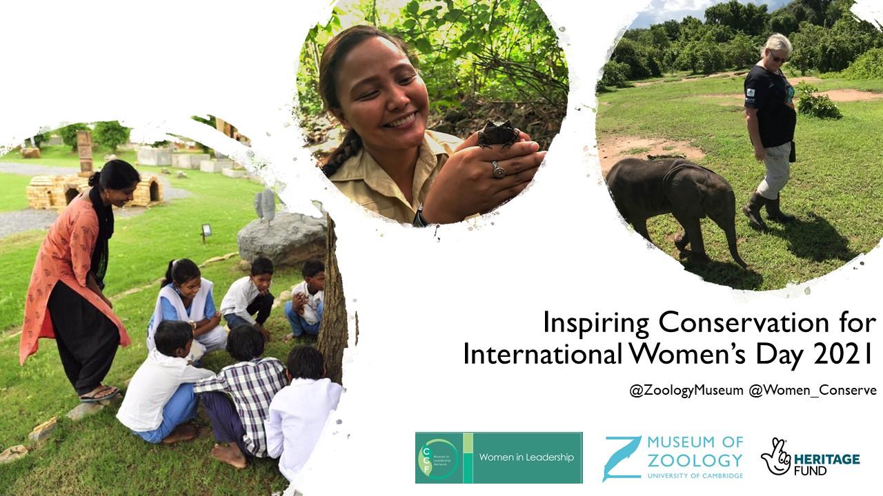 Title slide for Inspiring Conservation for International Women's Day 2021
