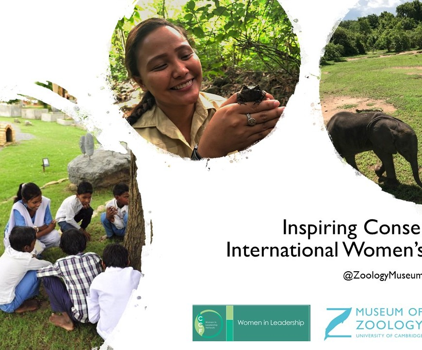 Title slide for Inspiring Conservation for International Women's Day 2021