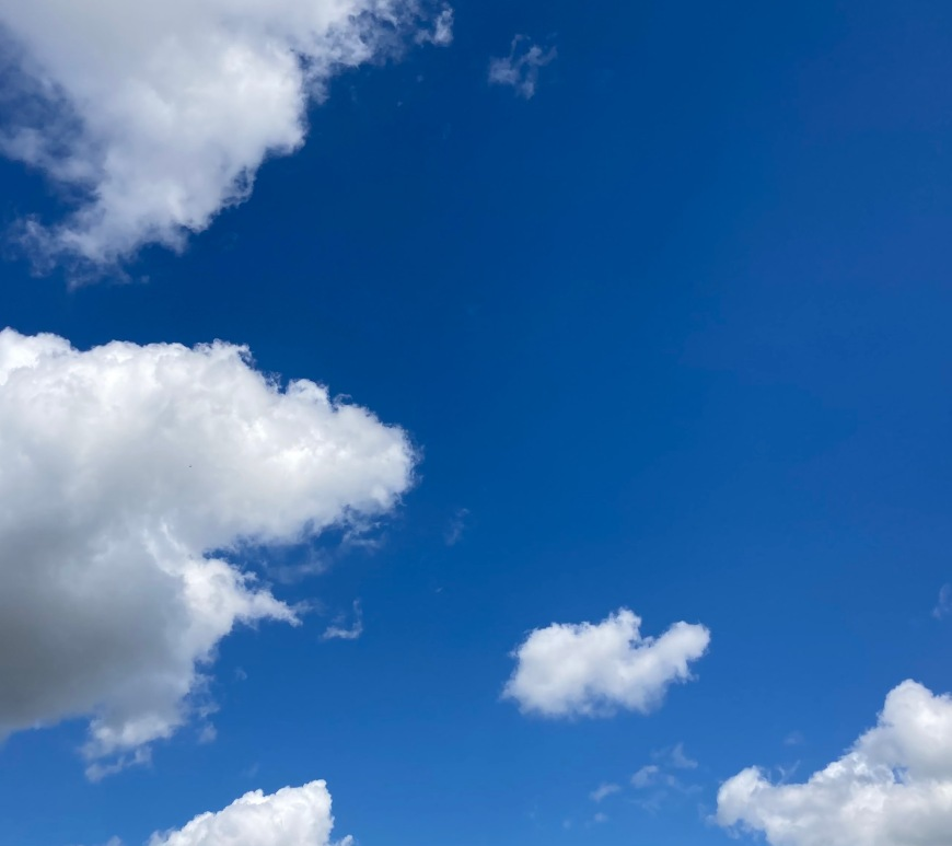 Clouds in a blue sky
