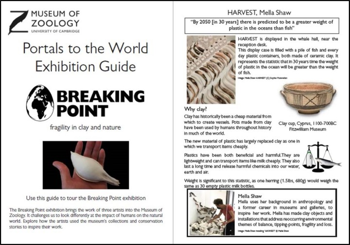 Preview of Breaking Point exhibition guide