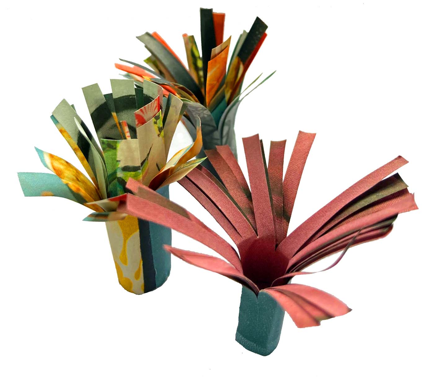 Recycled paper sea anemone